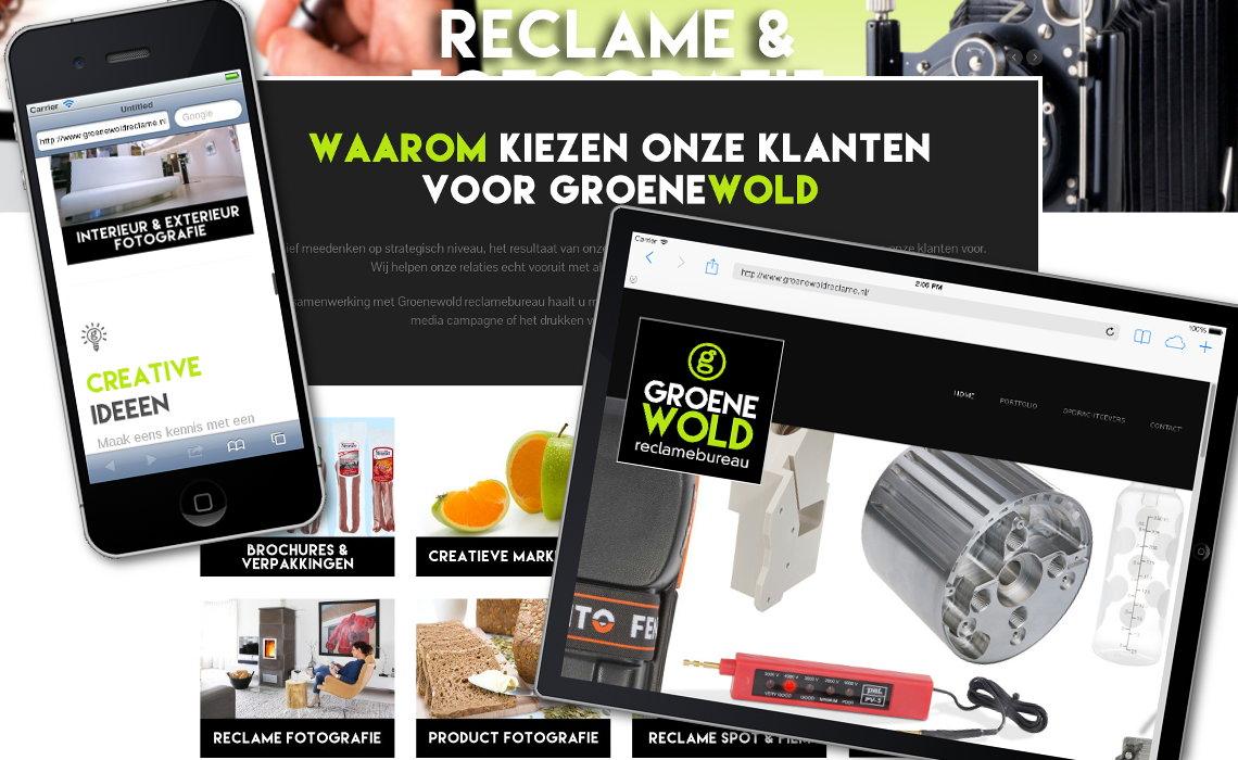 Website groenewoldreclame.nl