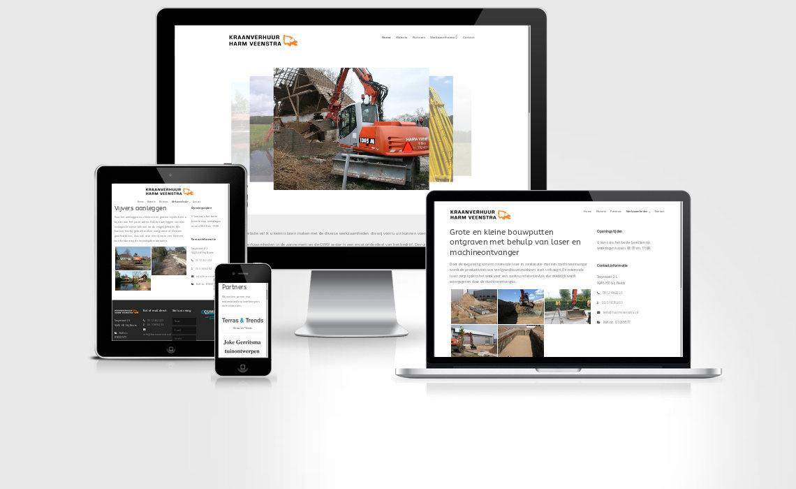 Website harmveenstra.nl