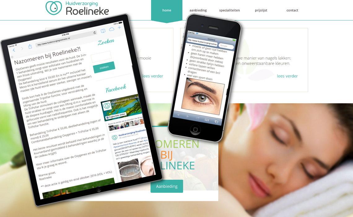 Website huidverzorgingroelineke.nl