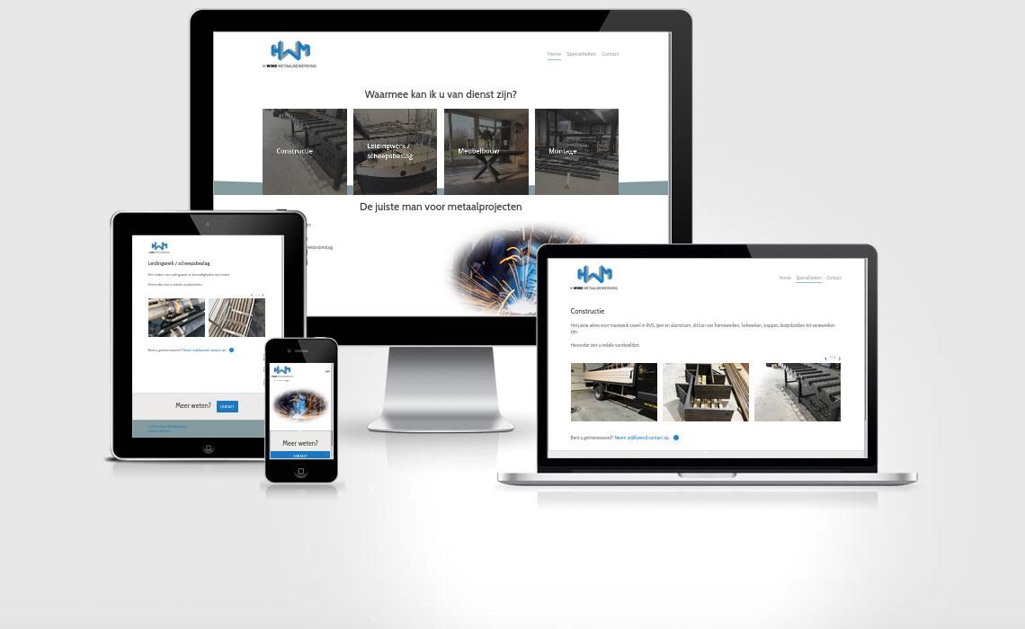 Website hwindmetaalbewerking.nl