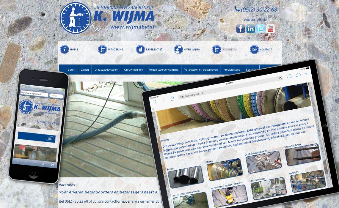 Website wijmabv.nl