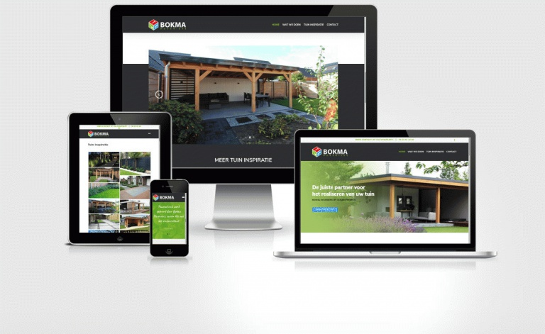 Foarbield website bokmahoveniers.nl