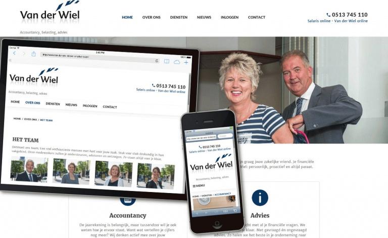 Foarbield website van der wiel.nl